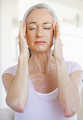 woman tapping over chronic stress